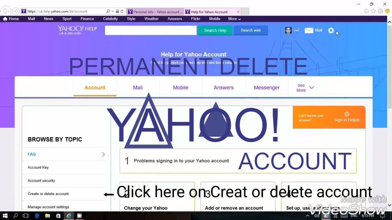 how to cancel yahoo account permanently