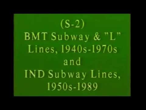 IND & B.M.T SUBWAY& EL  lines in N.Y.C  1940's- 80's movie footage.