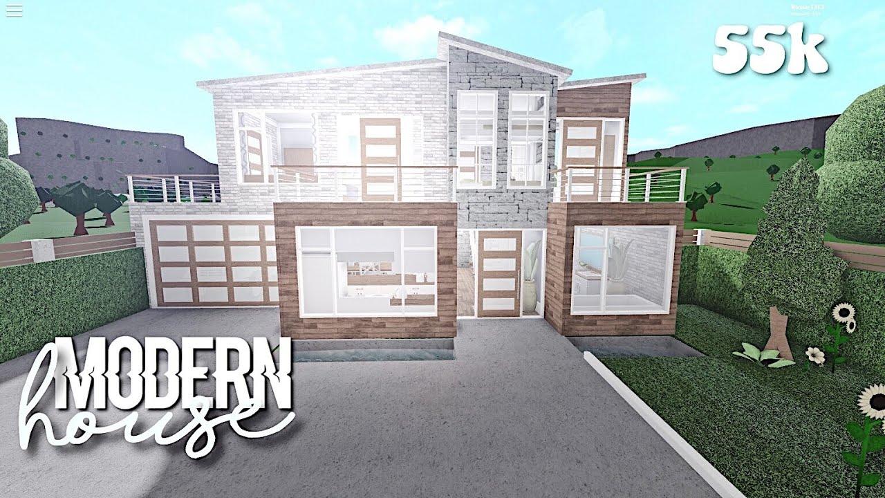 Modern house - Bloxburg speedbuild - YouTube