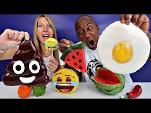 Real Food Vs Gummy Food Gross Giant Candy Challenge Best