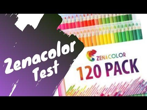 Test Des Zenacolor Aquarelle Par 72 Youtube