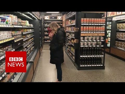 Inside Amazon's till-free grocery store  - BBC News