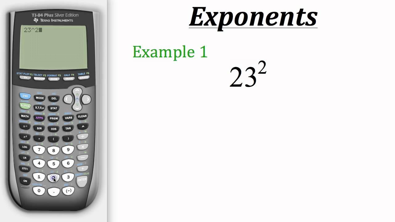Ti Calculator Tutorial: Exponents - YouTube