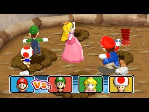 Mario Party 9 Step It Up - 1 vs. Rivals - Team Peach, Luigi & Toad vs Mario| Cartoons Mee