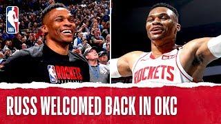 Russ Gets Heartfelt Standing Ovation In Return To OKC!