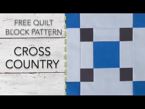 FREE Quilt Block Pattern: Cross Country