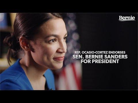 Rep. Alexandria Ocasio-Cortez Endorses Bernie For President