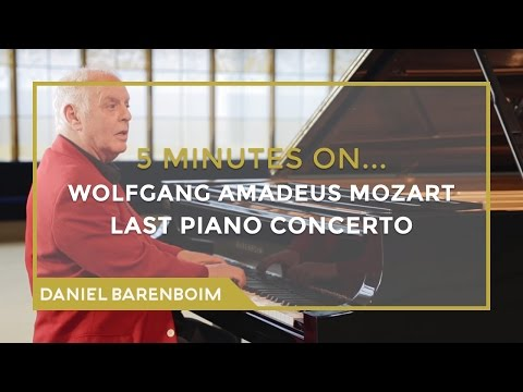 5 Minutes On... Mozart - Piano Concerto No. 27 (Bb major) | Daniel Barenboim [subtitulado]