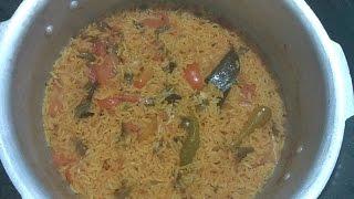 Tomato pulao | Thakkali Pulao Recipe | how to make tomato rice in pressure cooker