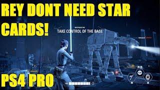 Star Wars Battlefront 2 - NO Star Cards on Rey, No problem! | EA servers are BROKE! (PS4 pro)