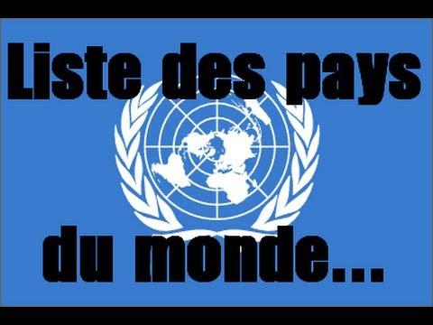 Liste Des Pays Du Monde