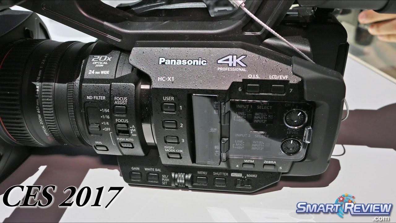 CES 2017 | Panasonic HC X1 Professional 4K Camcorder | 60p 4K |  SmartReview com