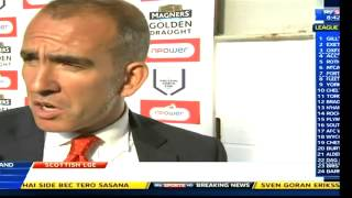 wes foderingham bust up with di canio and di canio post match interview