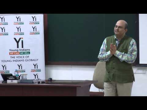 Professor Rishikesha T. Krishnan, Director, IIM Indore, interacts with Young Indians