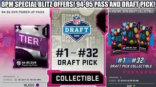 8PM SPECIAL OFFERS! 1-32 PICK COLLECTIBLE AND 94-95 POWER UP PASS! | MADDEN 19 ULTIMATE TEAM