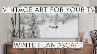 Winter Landscape   Vintage Art Slideshow for your TV   1hr of 4K HD Paintings.