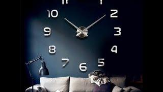 Настенные часы наклейки 3D Diy Clock(Настенные часы 3D Diy clock Прикольные и необычные Большие настенные часы. Настенные Часы-наклейки, легко..., 2016-10-23T10:27:32.000Z)