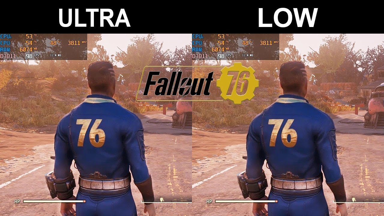 Fallout 76 - FPS Test - i5-8400 + GTX 1070 (Ultra/Low)