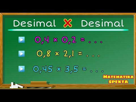 Cara Mudah Perkalian Bilangan Desimal. 2 CARA