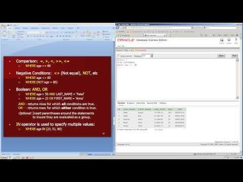 SQL SELECT statement database basics tutorial: learning, writing, using, examples