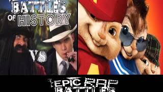 Blackbeard vs Al Capone. Epic Rap Battle of History Season 3. CHIPMUNKS version
