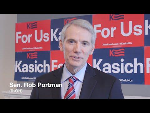 Sen. Rob Portman Endorses John Kasich for President