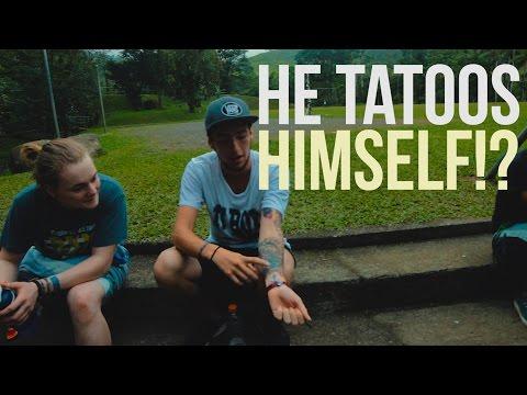 HE TATTOOS HIMSELF!? - Ep #3 - Costa Rica VLOGS