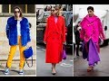 Trendy bright colours street style trends 2018