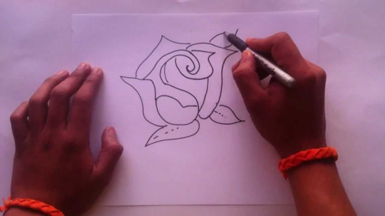 Dibujar una rosa consejos para pintar youtube - Como secar una rosa ...