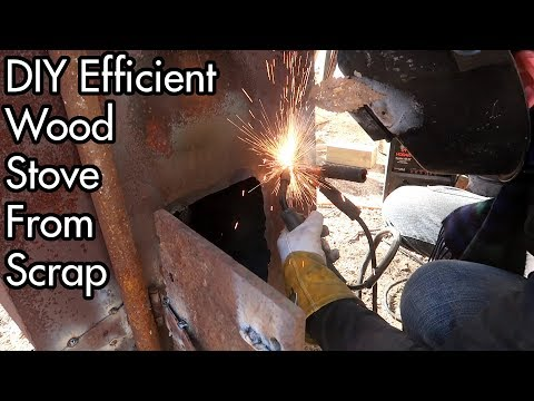 DIY Efficient Wood Stove from Scrap Parts