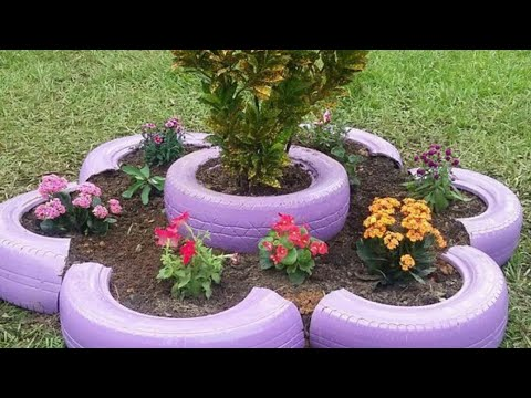 #Garden #decoration #ideas #using #old #tires #by #KV