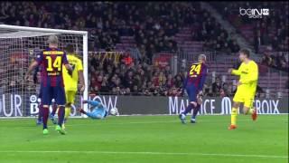 Barcelona - Villarreal Highlights HD CdR 11.02.2015