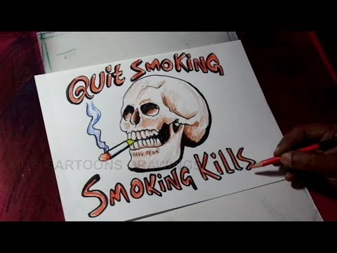 How to Draw Quit Smoking Poster Drawing - YouTube