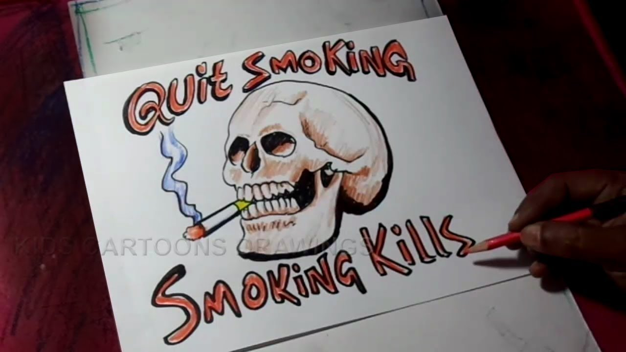 How to Draw Quit Smoking Poster Drawing