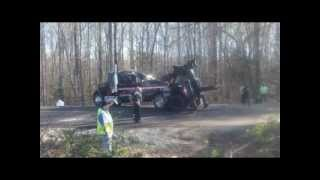 4 Large Trucks Wrecked in Powhatan Va - Llewellyn