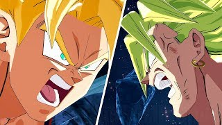 DRAGON BALL FighterZ - Goku kills Broly Dramatic Finish (English/Japanese) @ 1440p (60ᶠᵖˢ) HD ✔