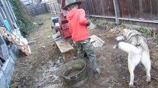 back yard mining shaker table in action