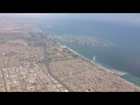 Dubai from sky – Palm Islands & Burj Al Arab