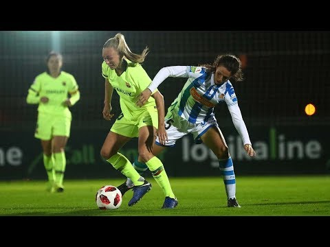 Fútbol femenino: Real Sociedad 2 - 5 Barcelona 21/11/2018