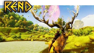 Fastest Mount in the Game - Rend Survival Gameplay Part 18 (Taming a Stag & Goliath Arachnix Spider)