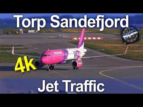Torp Sandefjord Airport - Jet Traffic 4K