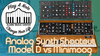 Behringer Model D vs Minimoog Analog Synth Shootout - $329 vs $3500! Can You Hear the Difference?