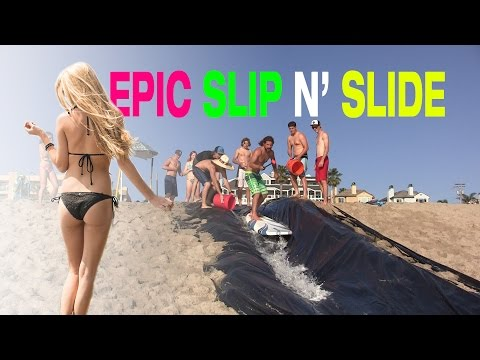 Epic 100ft Beach Slip n' Slide | Carlsbad, CA | Land or Water
