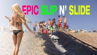 epic 100ft beach slip n slide   carlsbad ca   land or water
