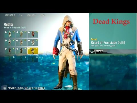 Dead Kings AC Initiates chests. Guard of Franciade Outfit. Haunted Royal Crypt