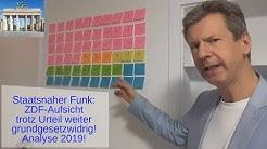 ZDF-Fernsehrat GG-widrige Struktur. 34 von 60 staatsnah. Analyse 2019