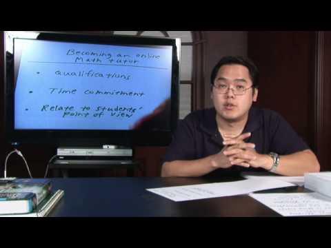 Math Help : Becoming an Online Math Tutor