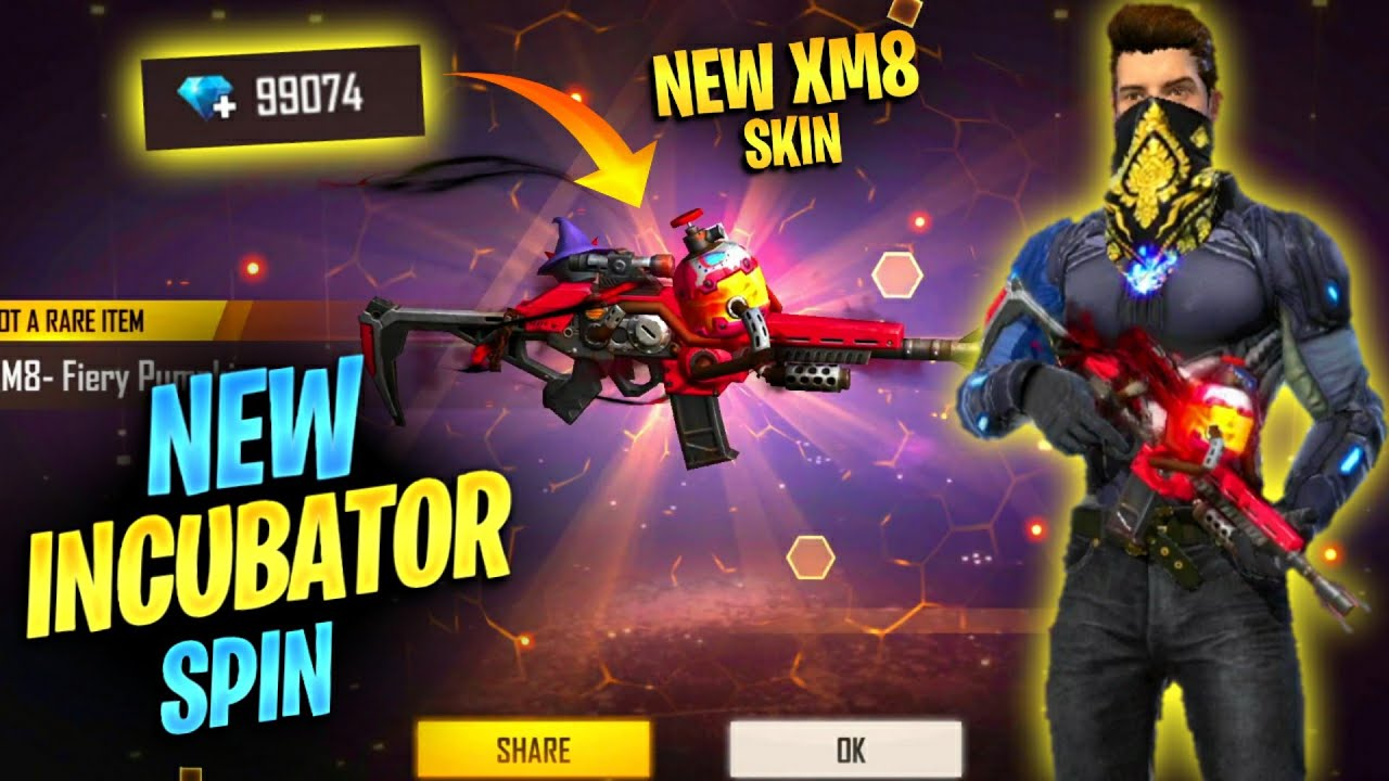 New Incubator पिचकारी  XM8 Skin || Free Fire || Desi Gamers