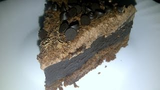 Really Moist Triple Layer Chocolate Cake Recipe. No Bake!