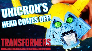 Revealing Unicrons Removable Head! Transformers HASLAB